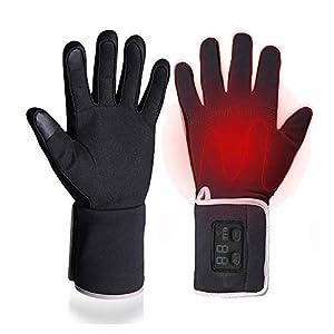 Massage-AED Beheizte Handschuhe für Reiten Radfahren Angeln Outdoor-Sportarten Verwenden Sie 3-6 Stunden 2200mAh Batterie beheizte Handschuhe Touchscreen