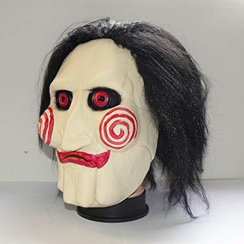 SAIPULIN Chainsaw Killer Silikonmaske Scary Clown Mask White Demon Killer Clown Erwachsene Gesichtsmaske (Chainsaw Killer Kostüm)