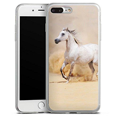 Apple iPhone 8 Plus Slim Case Silikon Hülle Schutzhülle Pferd Wüste Horse Silikon Slim Case transparent