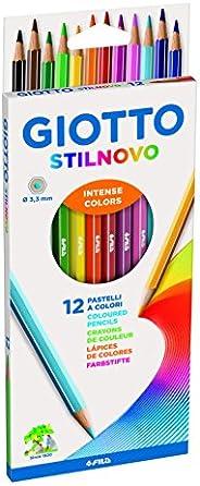 Giotto Stilnovo - Astuccio 12 Pastelli, Multicolore