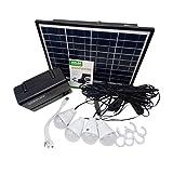 Panel solar Generador de almacenamiento de energía con bombilla LED Cargador...