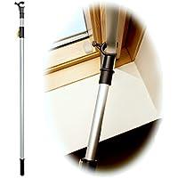 WinHux® canne télescopique conçu pour contrôler les lucarnes VELUX®, les fenêtres de toit et stores de 1,2-2,0m ARGENTÉ