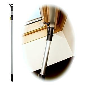 WinHux® Teleskop-Bedienungsstange, Teleskopstange, Fensterstange zum Öffnen und Schließen von VELUX® Dachfenster UND…