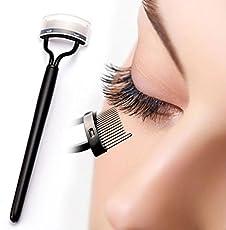 AGE CARE Combo of Eyelash Curler/Mascara Applicator with Steel Needle Brush (Black, AGE_0326)
