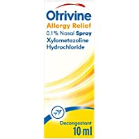 Otrivine Decongestant Allergy Relief 0.1% Nasal Spray for Hayfever, 10 ml