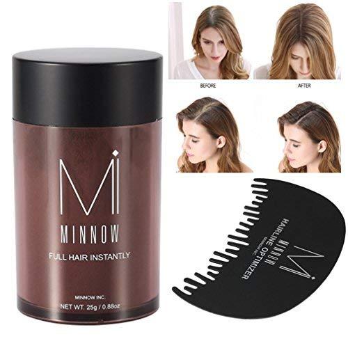 Zjchao hair building fibers, hair powder 9colori donne uomini baldness correttore thickening hair building fibers polvere 25g