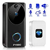 Video Doorbell, Wireless Smart WiFi Doorbell Camera 720P HD Door Viewer Camera