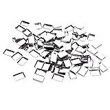 B Baosity Confezione Da 100 Paia Di Teglie In Metallo Rotonde Vuote In Metallo Ombretto Cosmetico Per Rossetto Arrossire Organizer Per Magneti Tavolozze Cosmeti - Argento, Retangle