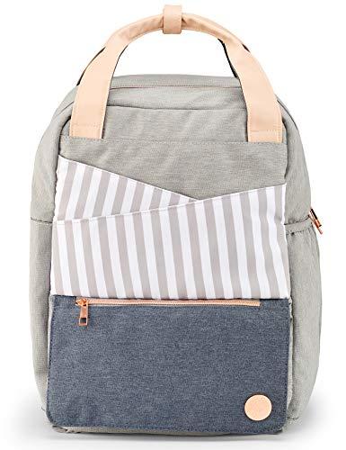 WICKELRUCKSACK Wickeltasche mit Wickelunterlage - Tolles Windeltaschen-Set mit Zubehör wie Fläschchenfach & Kinderwagenhaken