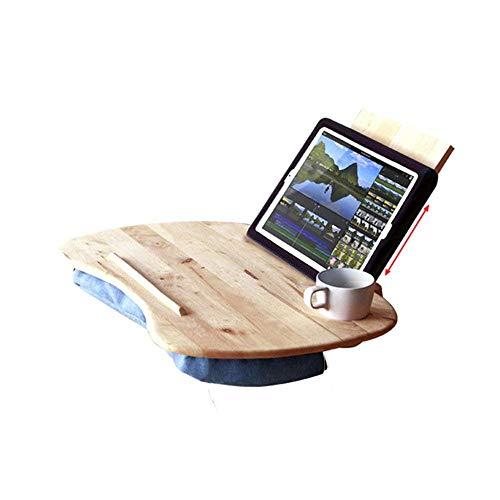 stts Lazy Table-Multifunktions-Kissen Computer Schreibtisch Portable Gummi Holz Faule Tisch Mobil Table Tablet Tisch Mini kleine Tabelle sparen Platz (Portable Laptop Kissen Schreibtisch)