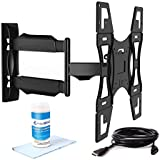 """Invision Tilt Swivel TV Wall Mount Bracket 26"""" - 55"""" (Includes High-Speed HDMI Cable and Dust Repellent Screen Cleaning Gel) - Compatible with LED, LCD, Plasmas, Max VESA 400mm x 400mm [Please Check TV VESA Mounting Holes Before Purchase]"""