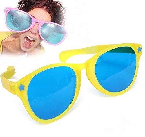 Gwill 2er Pack übergroße Sonnenbrille Clown Giant Prop Requisiten Neuheit große farbige Komödie lustige Witz Sonnenbrille für Clown Gag Kostüm Sonnenbrille Prop (Übergröße Clown Kostüm)