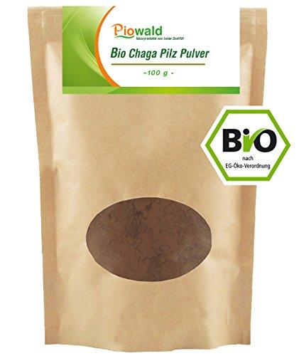 BIO Chaga Pilz Pulver - 100g (Pilz Pulver Bio)