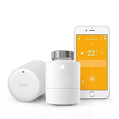 tado° Smartes Heizkörper-Thermostat Starter Kit für Wohnungen mit Heizkörper-Thermostaten - intelligente Heizungssteuerung per