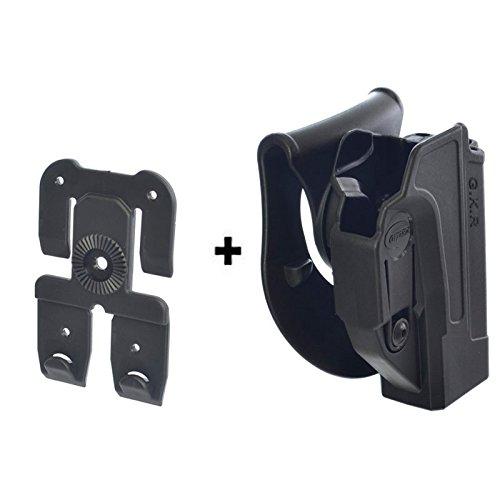 ORPAZ Defense Tiefziehholster verstellbar drehbar drehung Paddle Pistole Holster Active Retention + Molle adapter attachment für Glock 17-19-22-23-31-32-34-35-26-25 -
