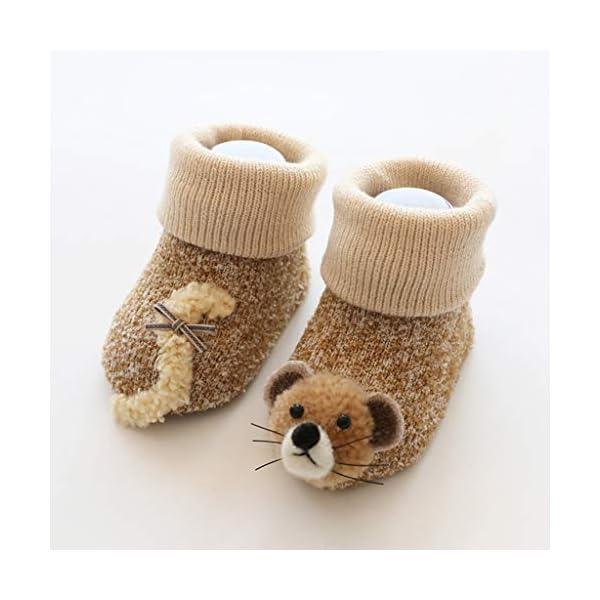 ZOOMY Baby Boy Girl Infant Kid First Walkers Sock Calcetín Antideslizante Suela para Suelo - purle 5