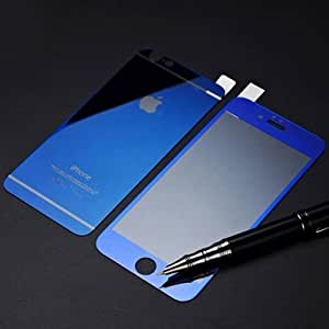 ScratchfreeZone Electroplated Mirror Finish Glossy Brushed Metal Effect Coloured Front & Back Tempered Glass For Apple iPhone 6,6S,6G