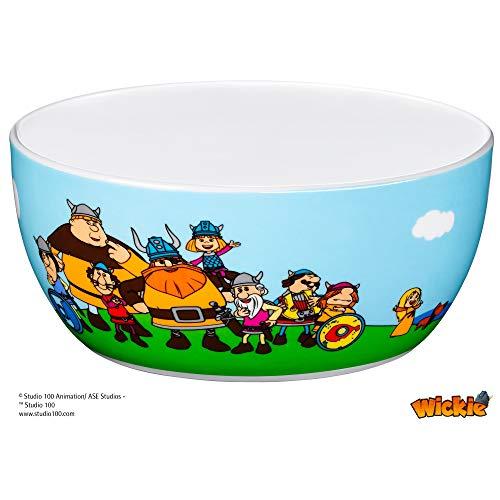 WMF Vicky el Vikingo - Cuenco para niños para cereales de porcelana, Ø13,8cm, altura 6,0 cm (WMF Kids infantil)