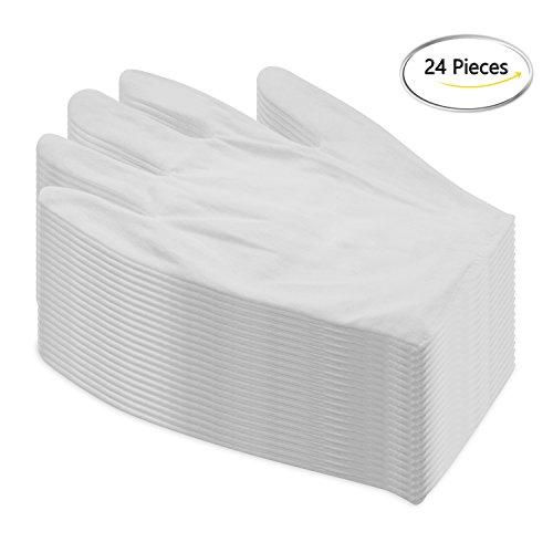 damowa 12Paar weiß Baumwolle Handschuhe 21,8cm groß Größe für Münze Schmuck Silber Inspektion