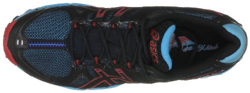 Asics Gel Fuji Attack, Chaussures de Running Compétition Mixte Adulte Black/Onyx/Brick Red