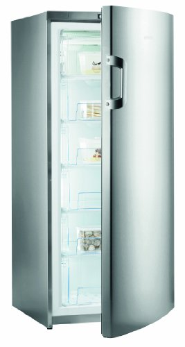 Gorenje F6152AX Gefrierschrank / A++ / 151 cm / 198 kWh/Jahr / 206 L Gefrierteil / 1 Gefrierfach mit Klappe / 4-Sterne-Gefrierleistung mit Super-Frost-Funktion / Inox Finger touch