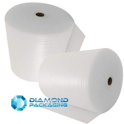 Diamond Packaging Luftpolsterfolie, klein, 600 mm x 100 m, ideal für Umzugsarbeiten
