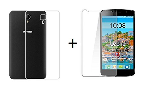 Lively Combo Offer For Intex Aqua Star 2 HD Transparent Back Cover + 2.5 D Curved Premium Tempered Glass