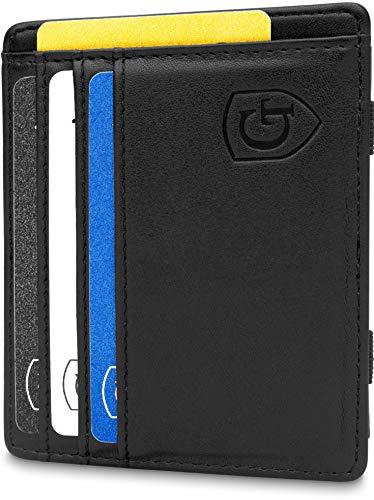 ®  Magic Wallet - Das Original - TÜV geprüfter Schutz - Dünne Geldbörse mit Münzfach - Geschenk für Herren mit Geschenkbox - Smarter Geldbeutel - Slim Portemonnaie   Design Germany