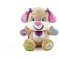 Fisher-Price CGR43 Lernspaß Hundefreundin interaktives Plüschtier und Lernspielzeug mitwachsenden Spielstufen Liedern und Sätze, ab 6 Monaten deutschsprachig preisvergleich bei kleinkindspielzeugpreise.eu