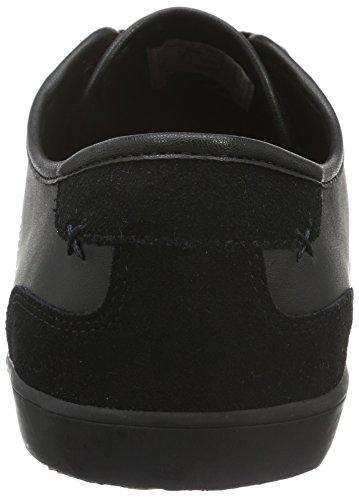 Boxfresh Mitcham Sh Lea/Sde, Baskets Basses Homme Noir - Schwarz (Black/Maroon)