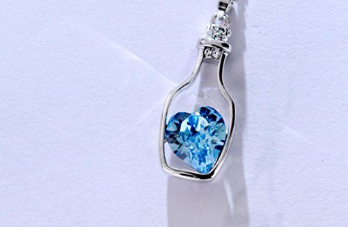 Sunnywill-Neue-Liebe-Drift-Flaschen-Frauen-Damen-Mode-beliebt-Kristall-Halskette