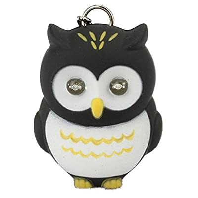Beierte Novelty Cute Owl LED KeyChain Keyring Torch With Light & Sound - cheap UK light store.