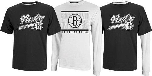 adidas Brooklyn Nets NBA 2013 3 in 1 T-Shirt Combo - 2 Shirts (Brooklyn Nets-t-shirt)