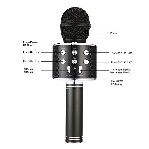 Portable Size WS858 Wireless Bluetooth Microphone High Sensitivity Home KTV  Music Playing Oneline Chat Karaoke Microphone