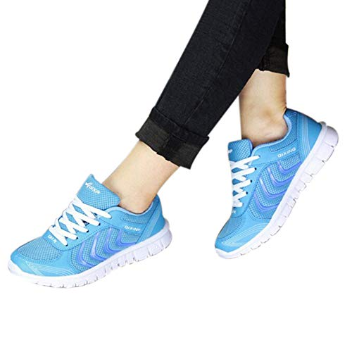。‿。 Meilleure Vente! LuckyGirls Automne et Hiver Femmes ChaussuresTulle Été Confort Sneakers Mesh Respirant Loisirs Course Étudiant Chaussures Dames Casual Shoes 37-40
