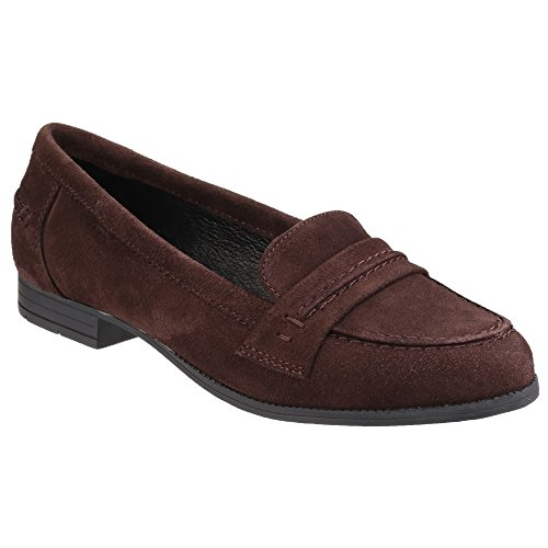 Hush Puppies Cathcart Knightsbridge, Mocassins Femme Noir/Gris