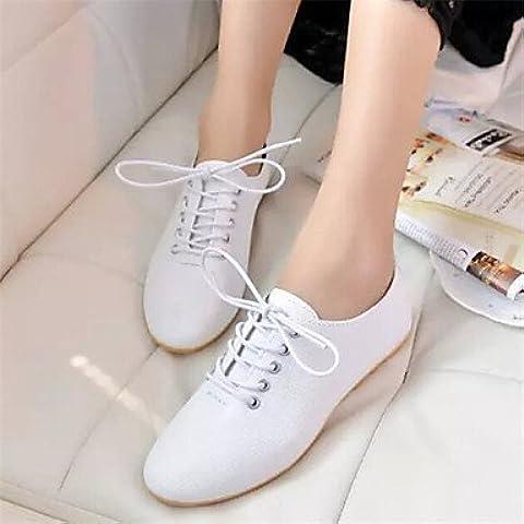 Scarpe da donna in pelle di brevetto Punta Oxfords , bianco-US8 / EU39 / UK6 / CN39 , bianco-US8 / EU39 / UK6 / CN39