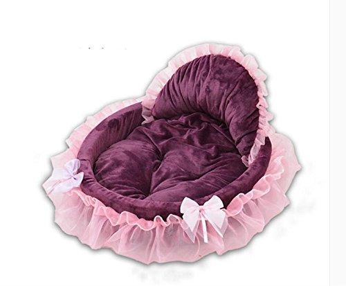 14c78070e4f3 Maison Niche de Chien Amovible et Lavable Coussin Lit Panier en Coton très  Doux Corbeille Princesse
