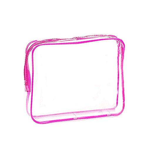 Dxlta Sac cosmétiques Transparent PVC imperméable Sacs à main Maquillage Sacs beauté