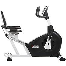 Hammer Comfort XTR 4853 - Bicicleta estática reclinada con asiento ergómetro