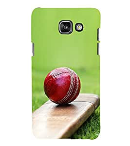 PrintVisa Cricket Bat Ball In Grass 3D Hard Polycarbonate Designer Back Case Cover for Samsung Galaxy On5 (2016) Launching Model
