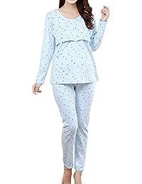 Samber Pijamas Mujer Embarazada Primavera Pijamas Baratas de Puro Algodón para Primavera Verano y Otoño Ropa