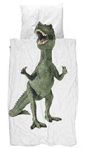 Kinder Bettwäsche Dinosaurier T-Rex von Snurk 135 x 200 cm -