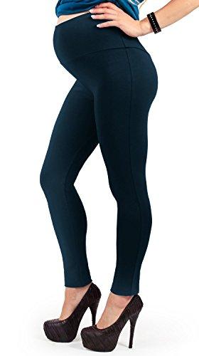 Leggings premaman felpato, termico, leggings per donne in gravidanza (42 it, blu scuro)