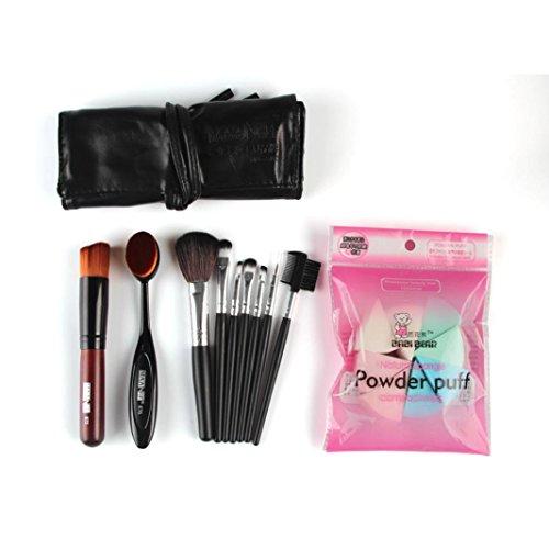Saingace 10pcs Pinceau de Maquillage Maquillage éponge Pinceau Correcteur Ensemble
