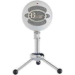 Blue Microphones Snowball - Micrófono para ordenador con soporte y cable USB, color blanco