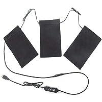 Ablerfly USB-Thermo-Weste, Heiztuch, 1 Kabel mit DREI Stoffen, wasserwaschbar, flexibel, 5 V, 3 Gang mit Temperaturregelschalter... preisvergleich bei billige-tabletten.eu
