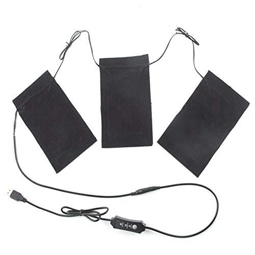Golden.Y 5V 2A 8.5W Heizkissen Elektrische Heizkissen für Kleidung USB Heizkissen Set für Outdoor Winter Camping