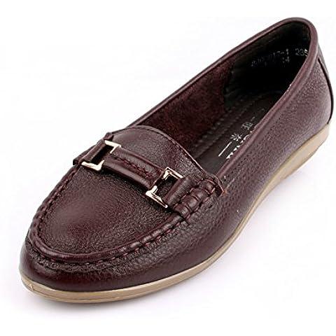 Scarpe in vera pelle/Morbido mezza età donne scarpe da donna/Scarpe