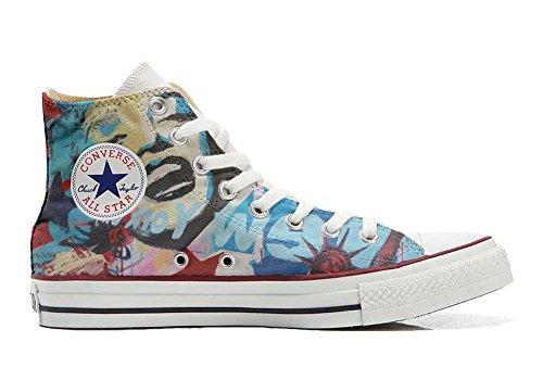 mys Converse All Star Chaussures Personnalisé et Imprimés (Produit Artisanal) New York City